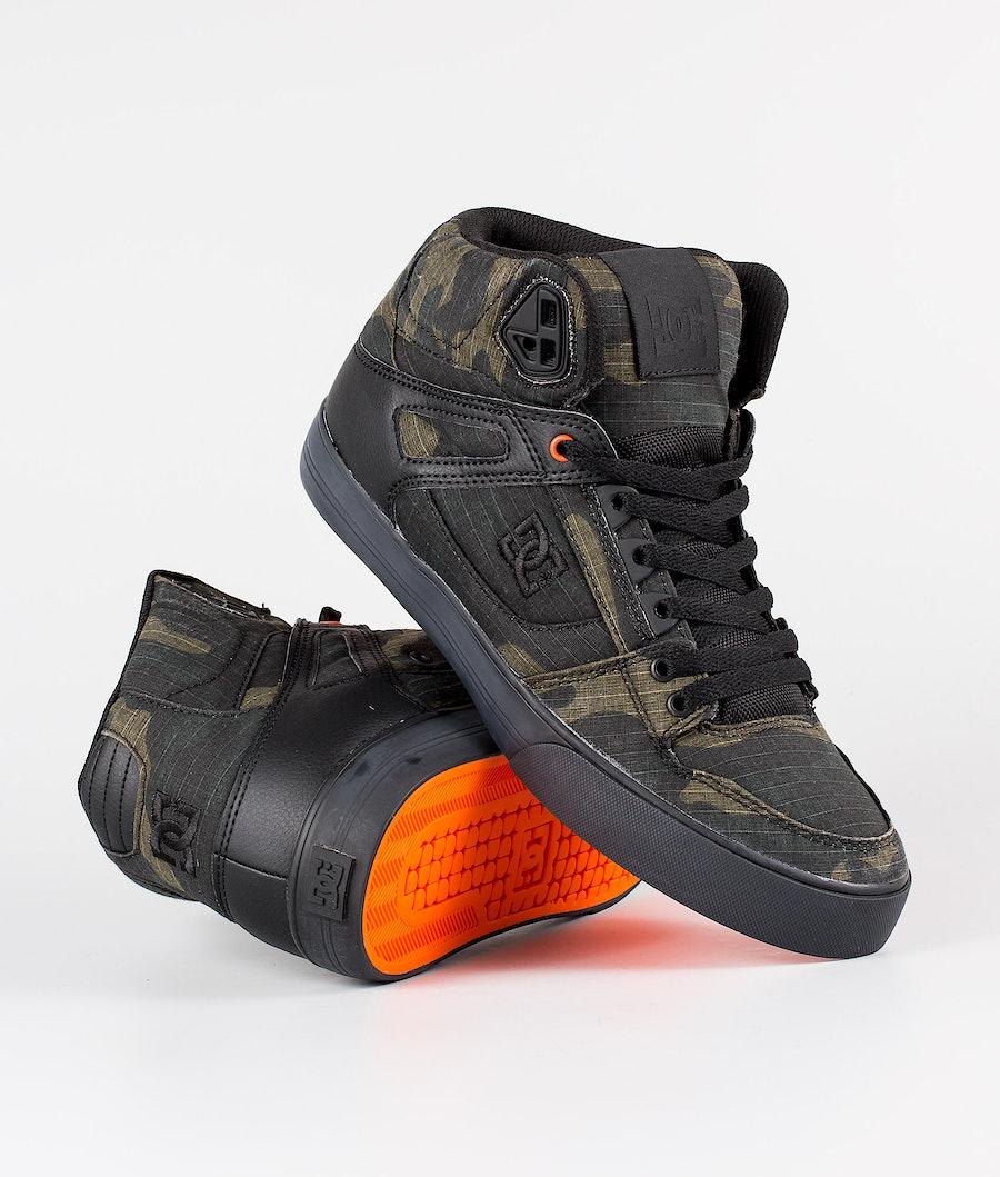 DC Pure High-Top Wc Tx Se Shoes Camo/Russet Orange
