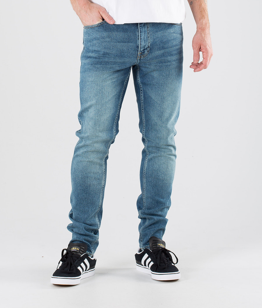 Dr Denim Clark Pants Dark Misty Blue
