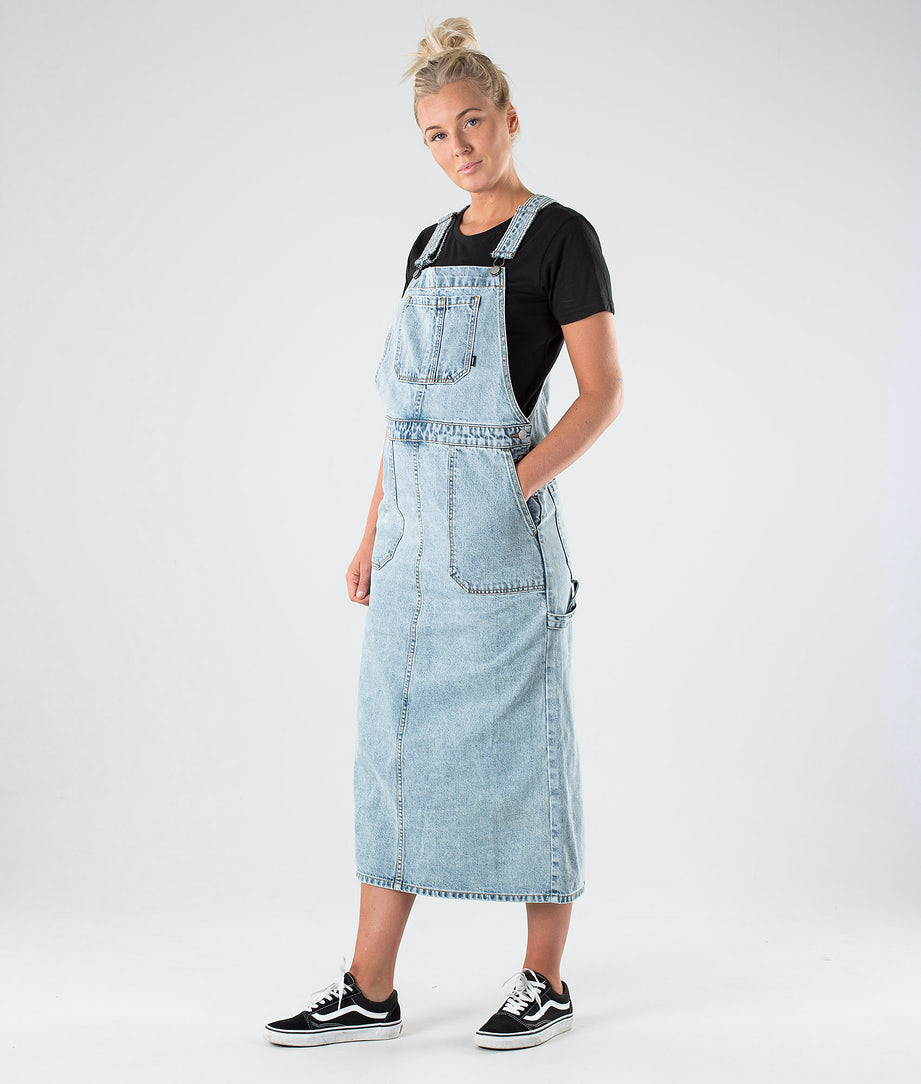 Dr Denim Hanae Pinafore Dress Mekko Downtown Blue