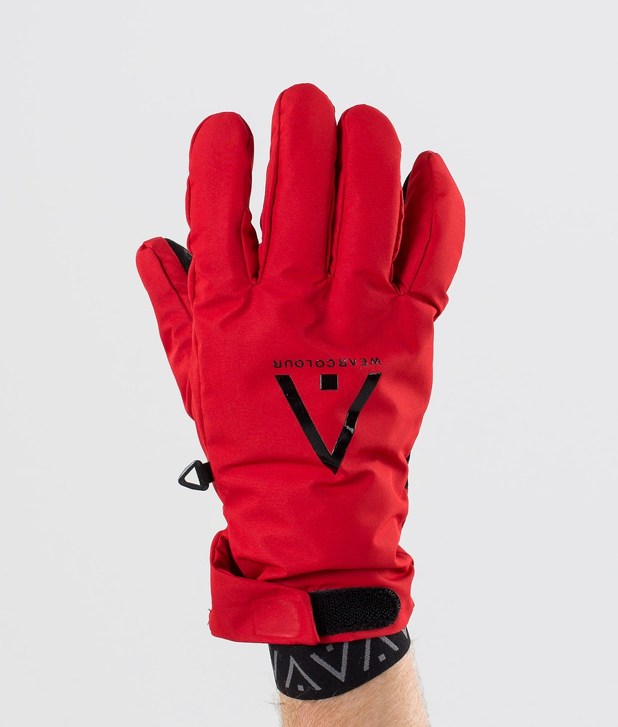 WearColour Rider Glove Skihansker Falu Red