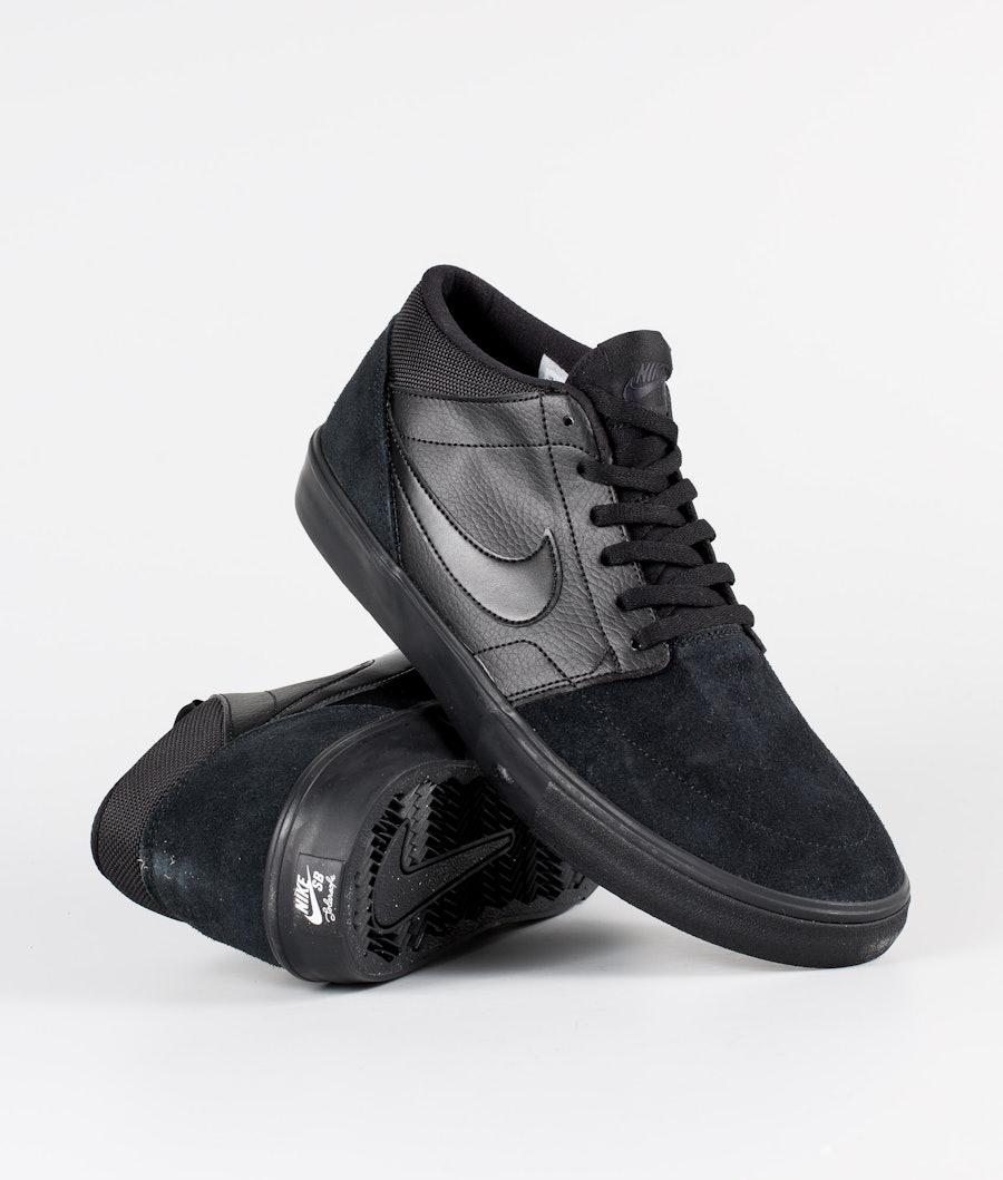 Nike Nike SB Solarsoft Portmore II Mid Sko Black/Black/Black/Anthracite