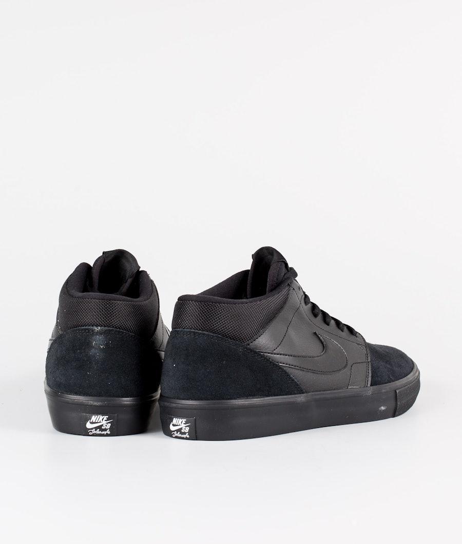 Nike Nike SB Solarsoft Portmore II Mid Skor Black/Black/Black/Anthracite