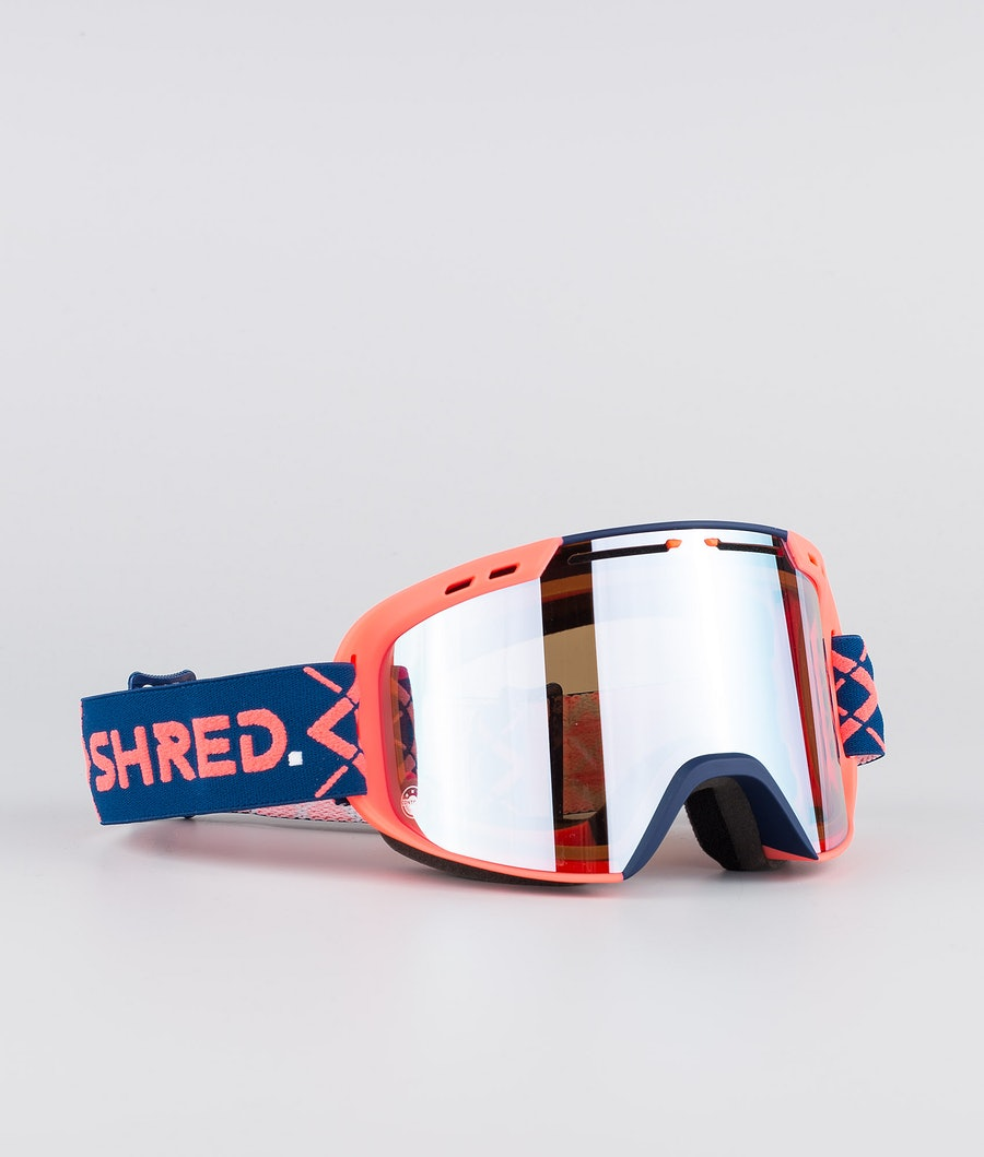 Shred Optics Amazify Bigshow Ski Goggle Navy/Rust-Cbl Sky