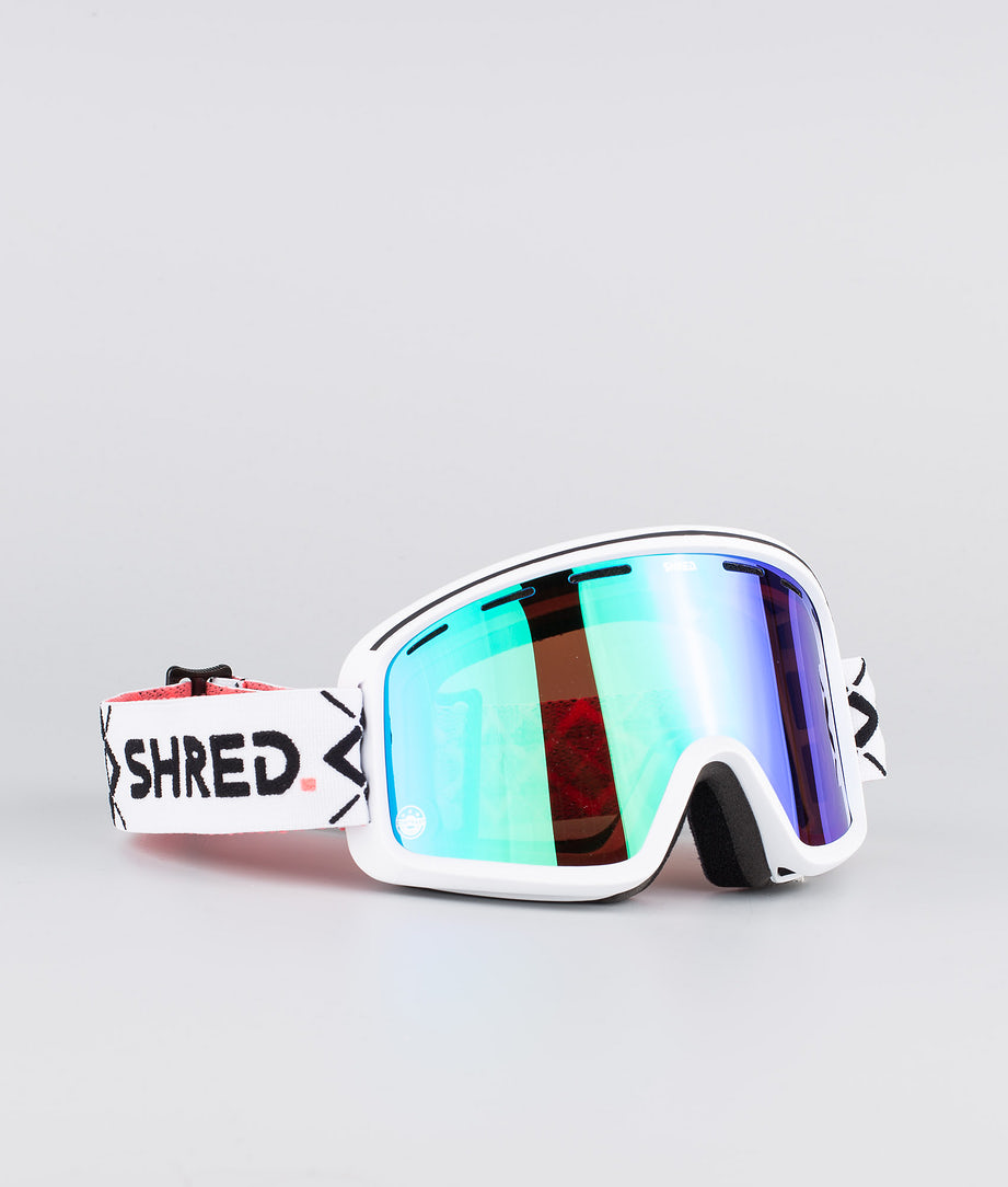 Shred Optics Monocle Bigshow Ski Goggle White-Cbl Plasma
