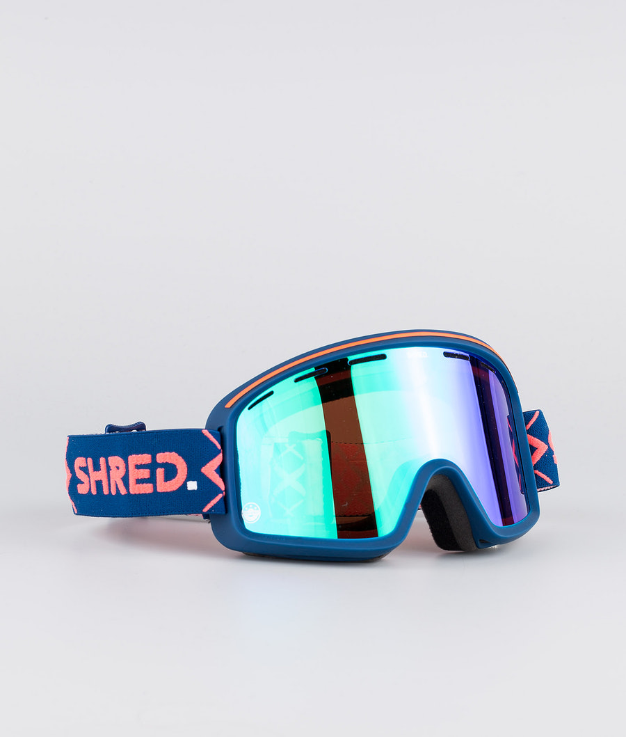 Shred Optics Monocle Bigshow Ski Goggle Navy-Cbl Plasma