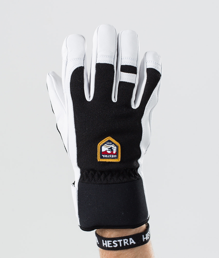 Hestra Army Leather Patrol 5-Finger Ski Gloves Black