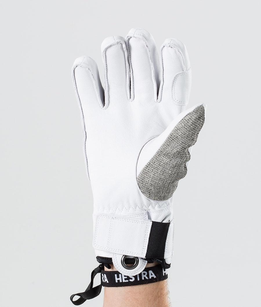 Hestra Army Leather Patrol 5 Finger Skidhandskar Light Grey
