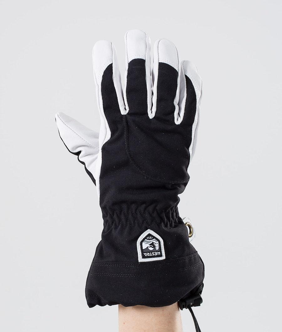 Hestra Heli Ski W 5-Finger Guanti da Neve Black/Offwhite