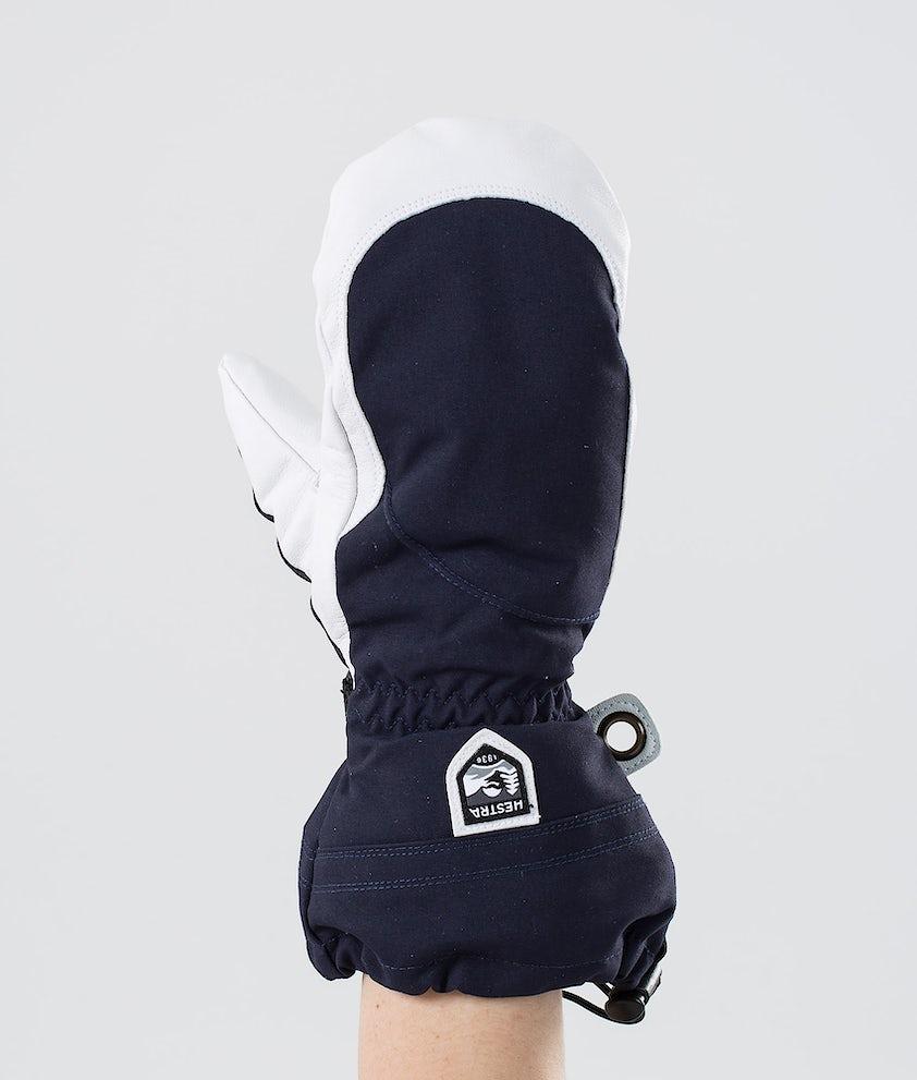 Hestra Heli Ski W Mitt Snow Mittens Navy/Off White