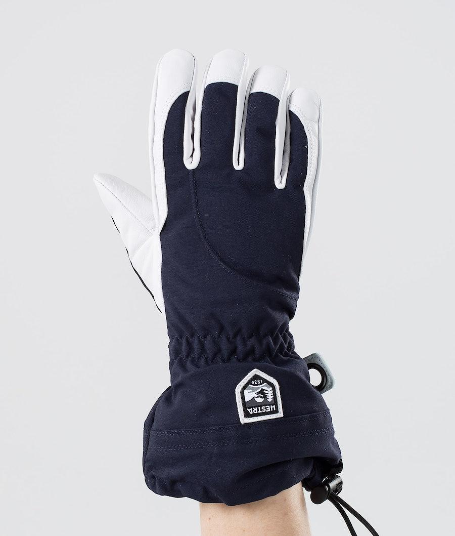 Hestra Heli Ski Female 5-Finger Guanti da neve Navy/Offwhite