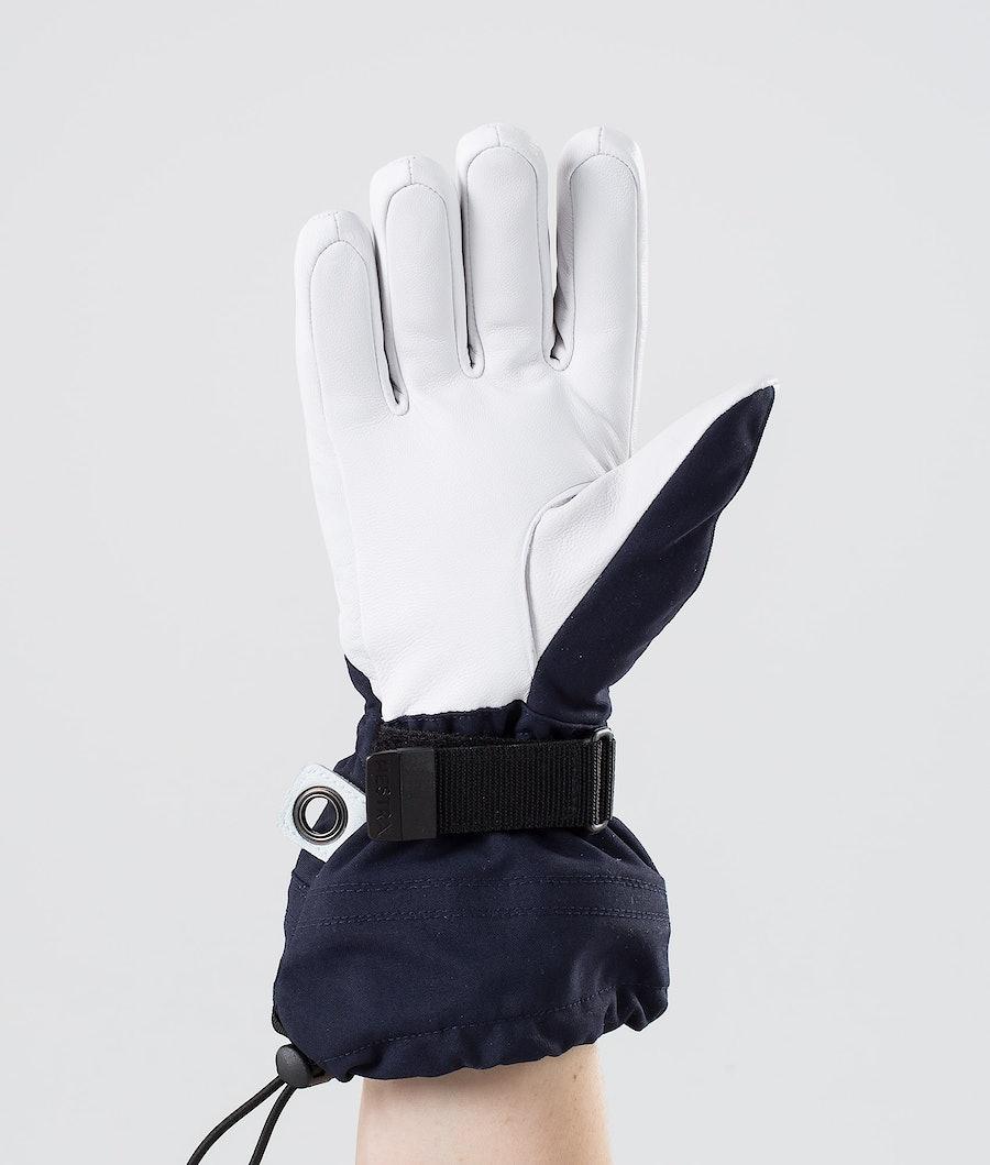 Hestra Heli Ski W 5-Finger Women's Ski Gloves Navy/Offwhite