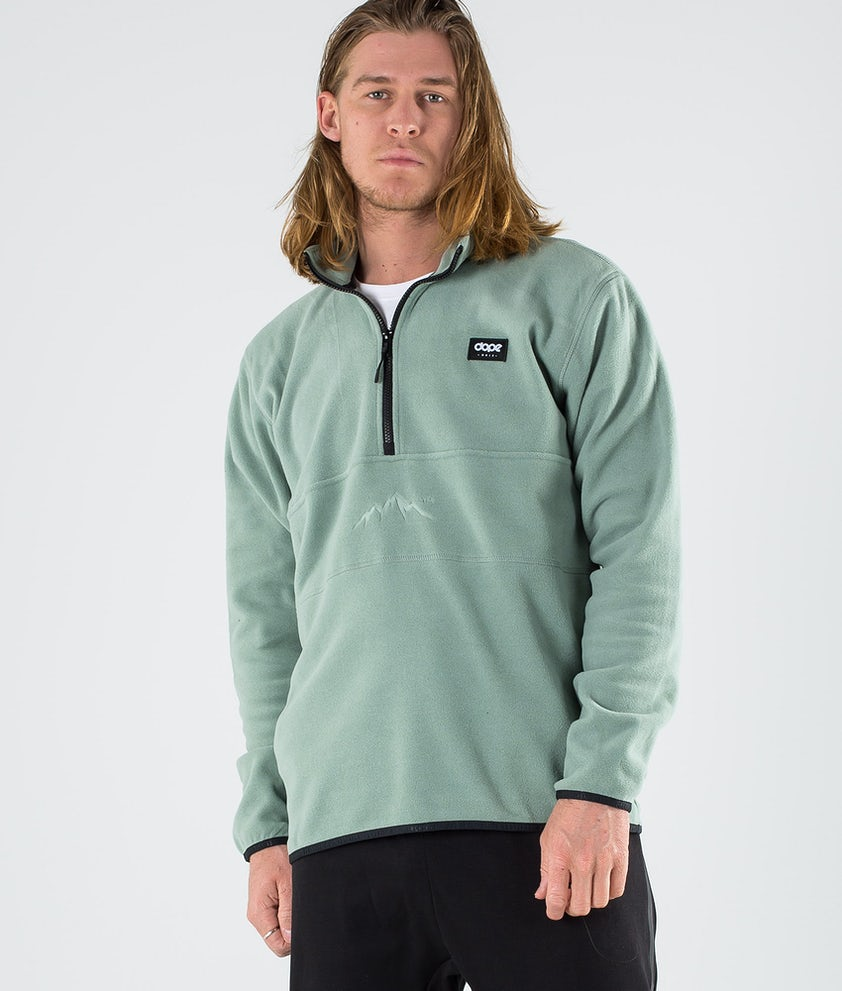Dope Loyd Polartec Fleecepullover Faded Green