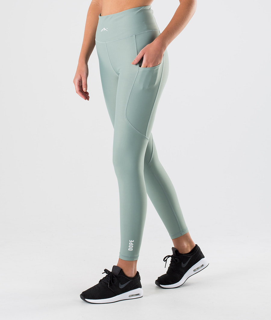 Dope Lofty Tech Leggings Faded Green