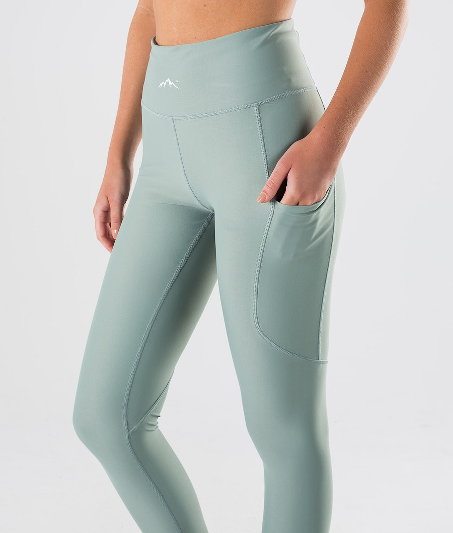 Dope Lofty Tech Leggings Dam Faded Green