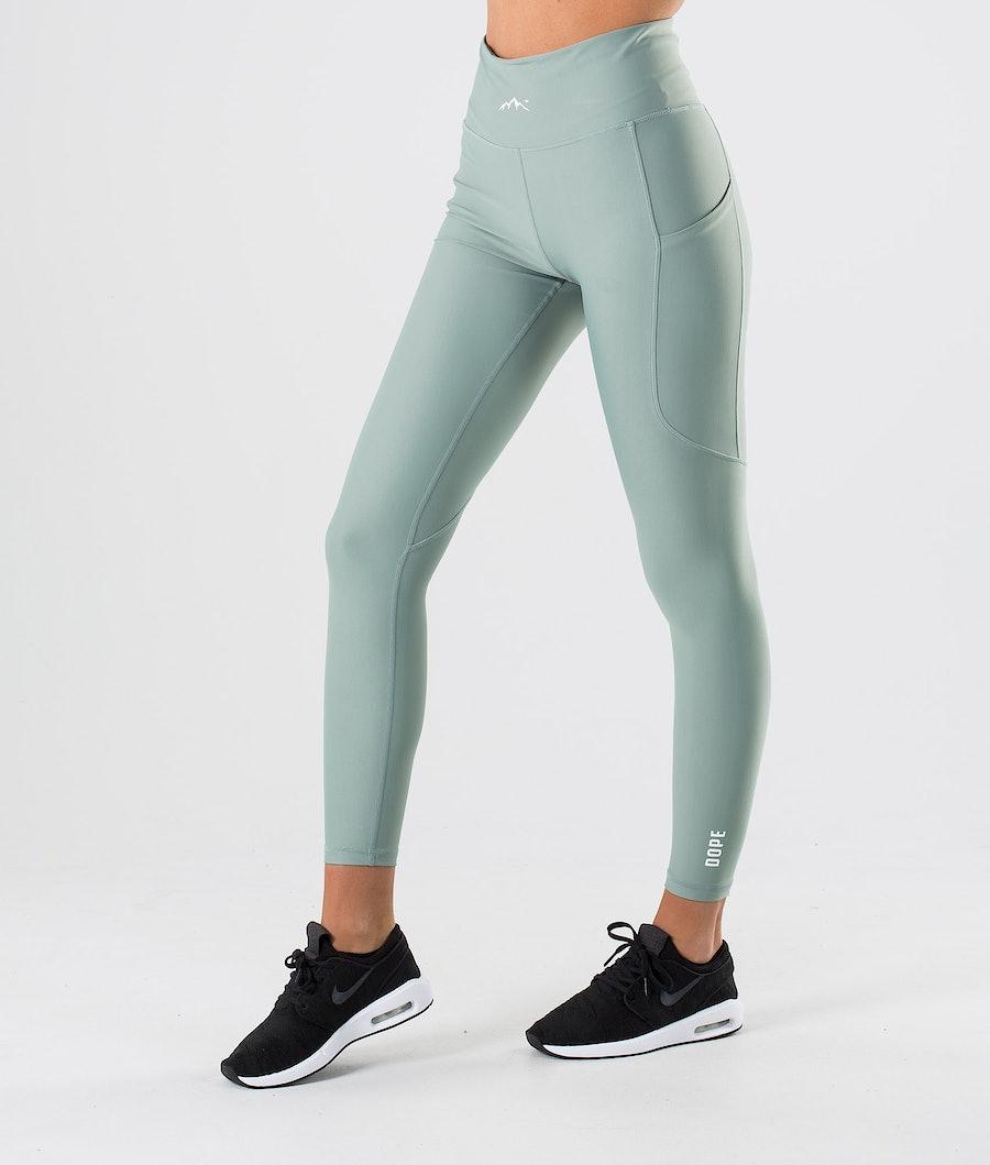 Dope Lofty Tech Women's Leggings Faded Green