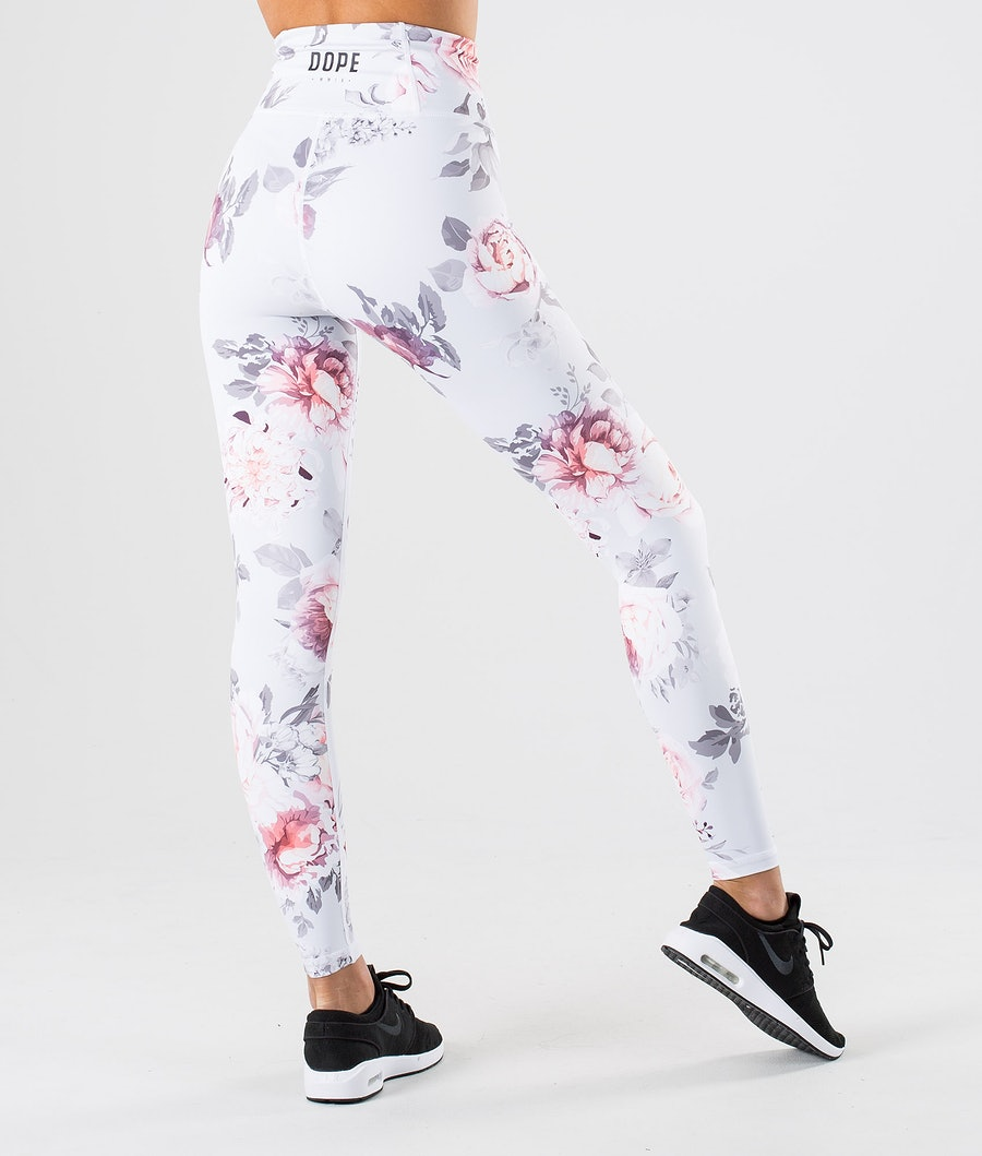 Dope Lofty Leggings Damen Grey Flower