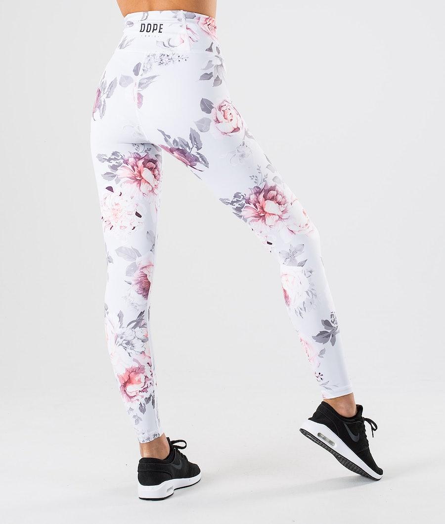 Dope Lofty Women's Leggings Grey Flower