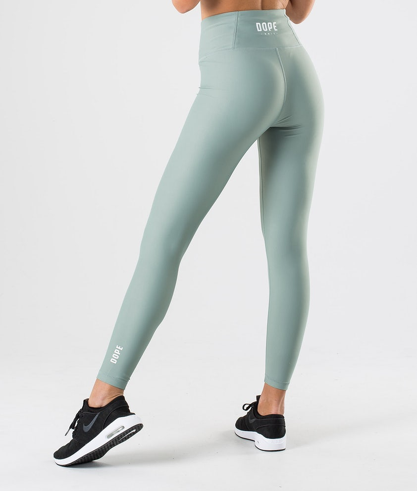 Dope Lofty Leggings Faded Green
