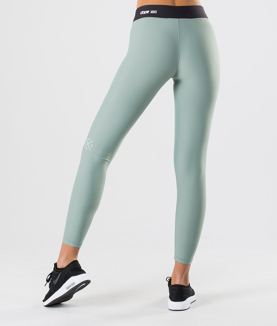 Dope Razor Leggings Dam Faded Green