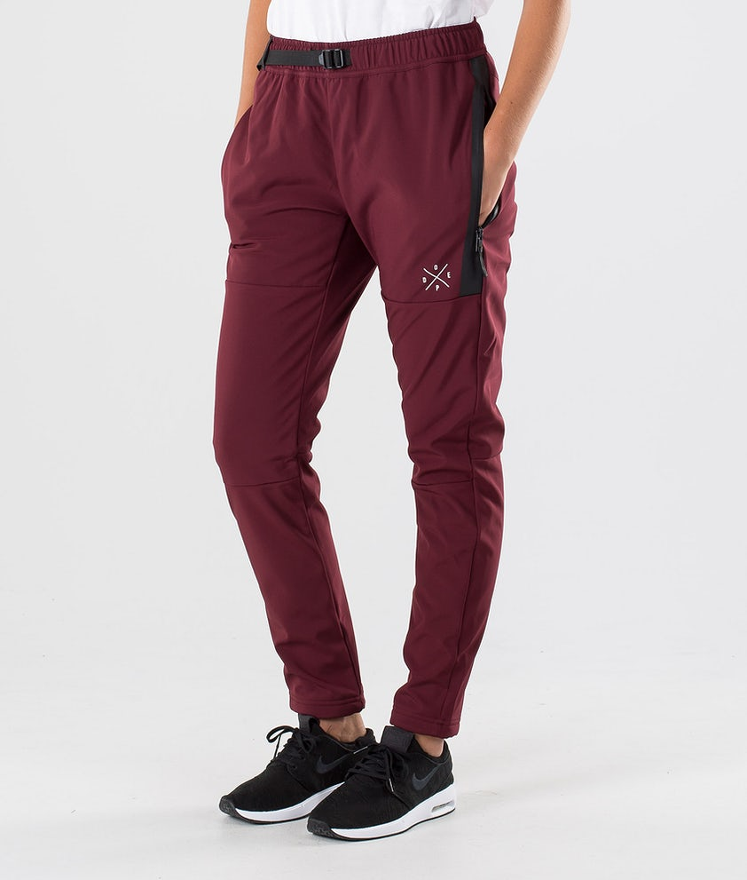 Dope Rambler W Outdoor Trousers Burgundy