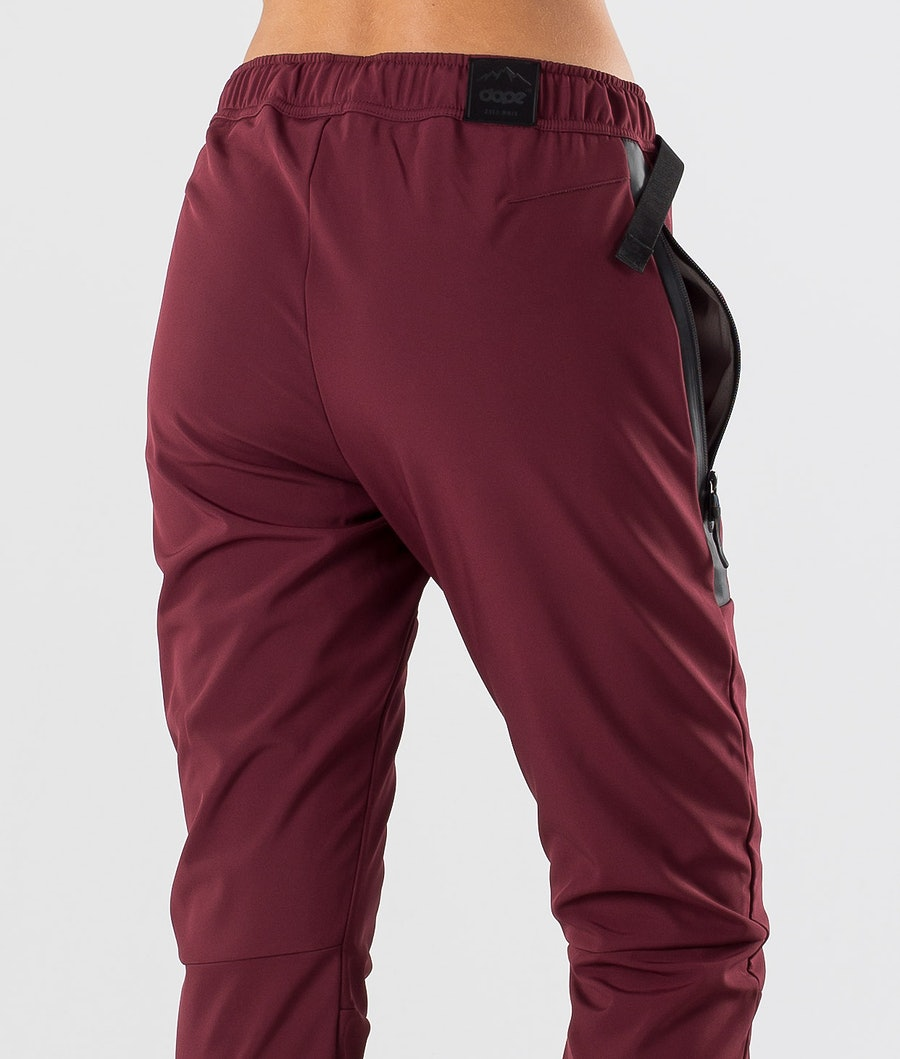 Dope Rambler W Women's Outdoor Trousers Burgundy