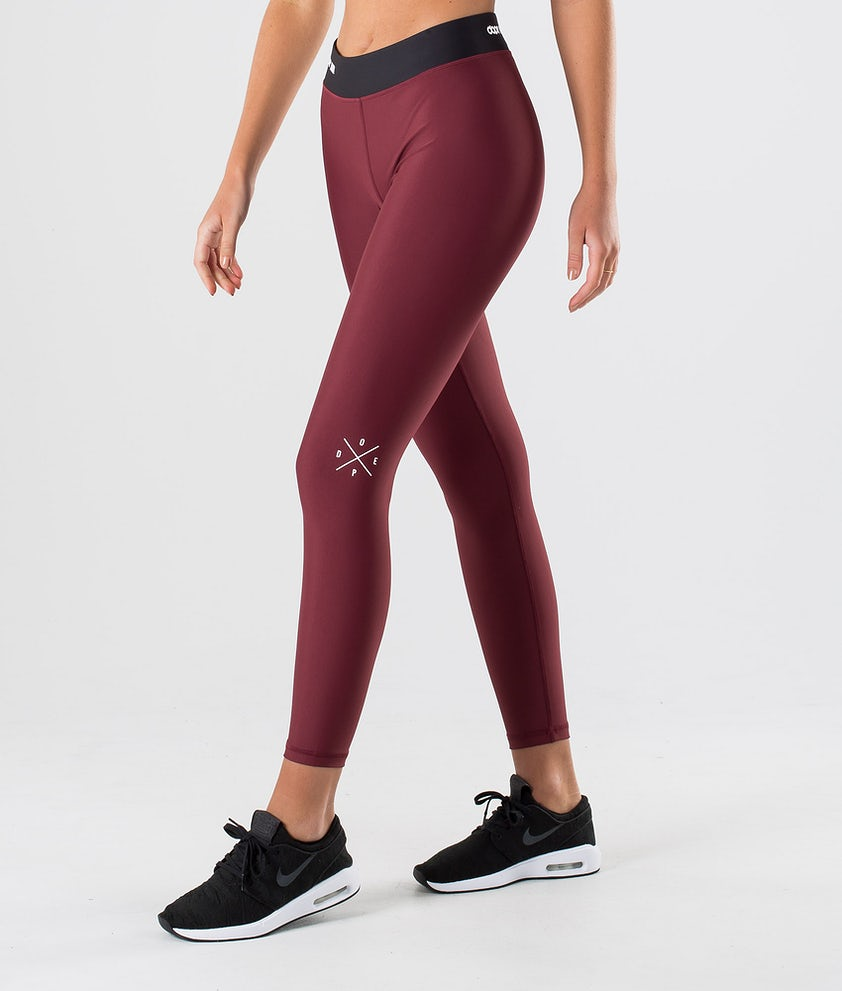 Dope Razor Leggings Burgundy