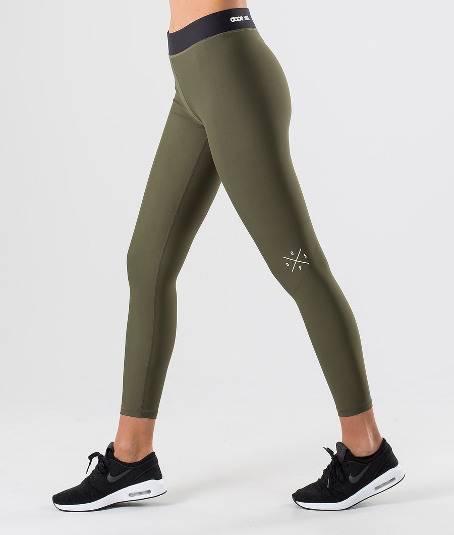 Dope Razor Leggings Dam Green