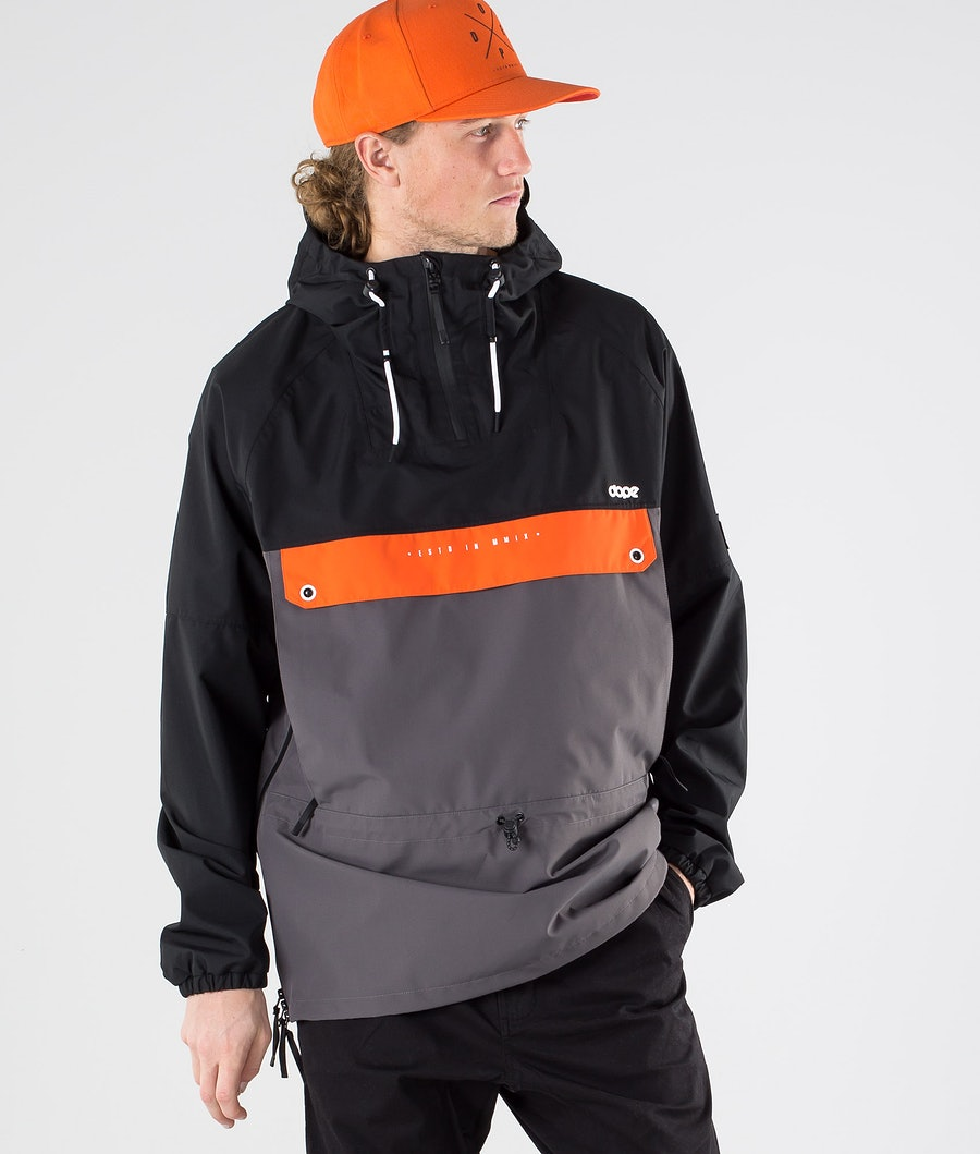Dope Hiker Outdoor Jacket Black Orange blackened pearl