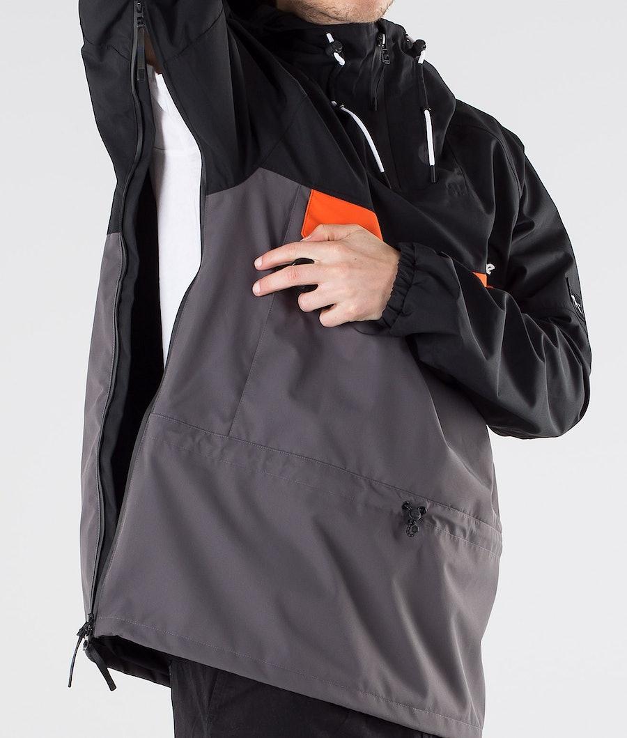 Dope Hiker Outdoorjacke Black Orange blackened pearl