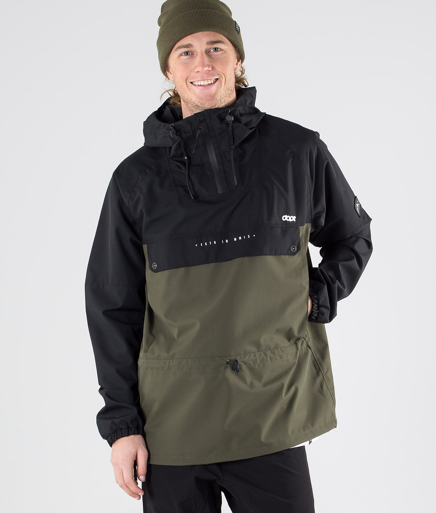 Dope Hiker Outdoor Jacket Black Green