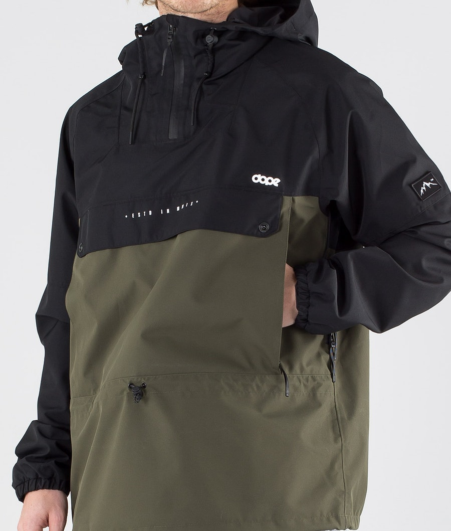 Dope Hiker Giacca Outdoor Black Green