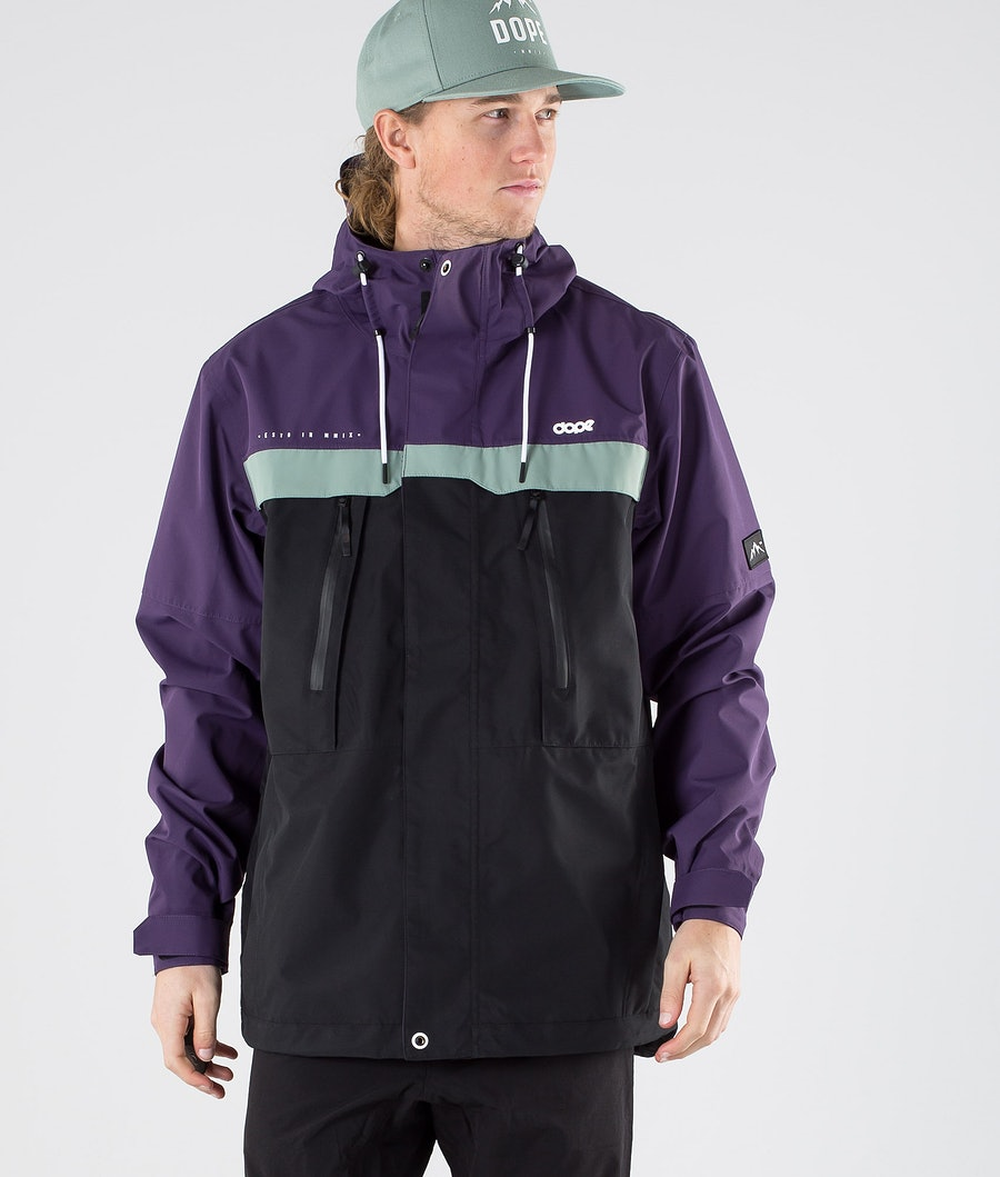 Dope Trekker Outdoor Jacket Grape Faded Green Black