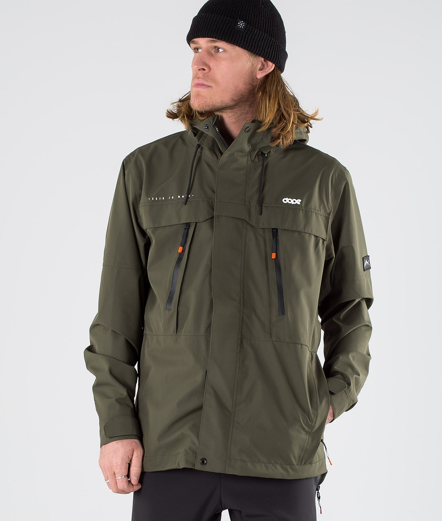 Dope Trekker Outdoor Jacka Green
