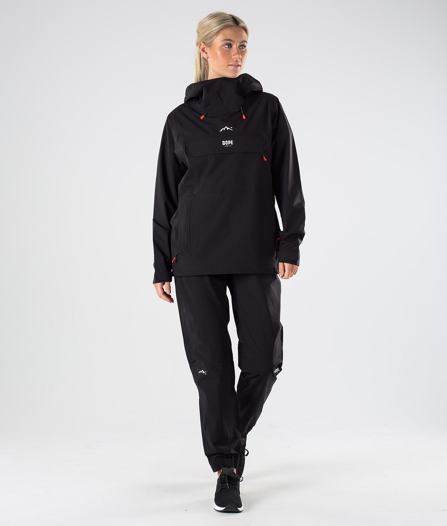 Dope Drizzard W Women's Rain Jacket Black