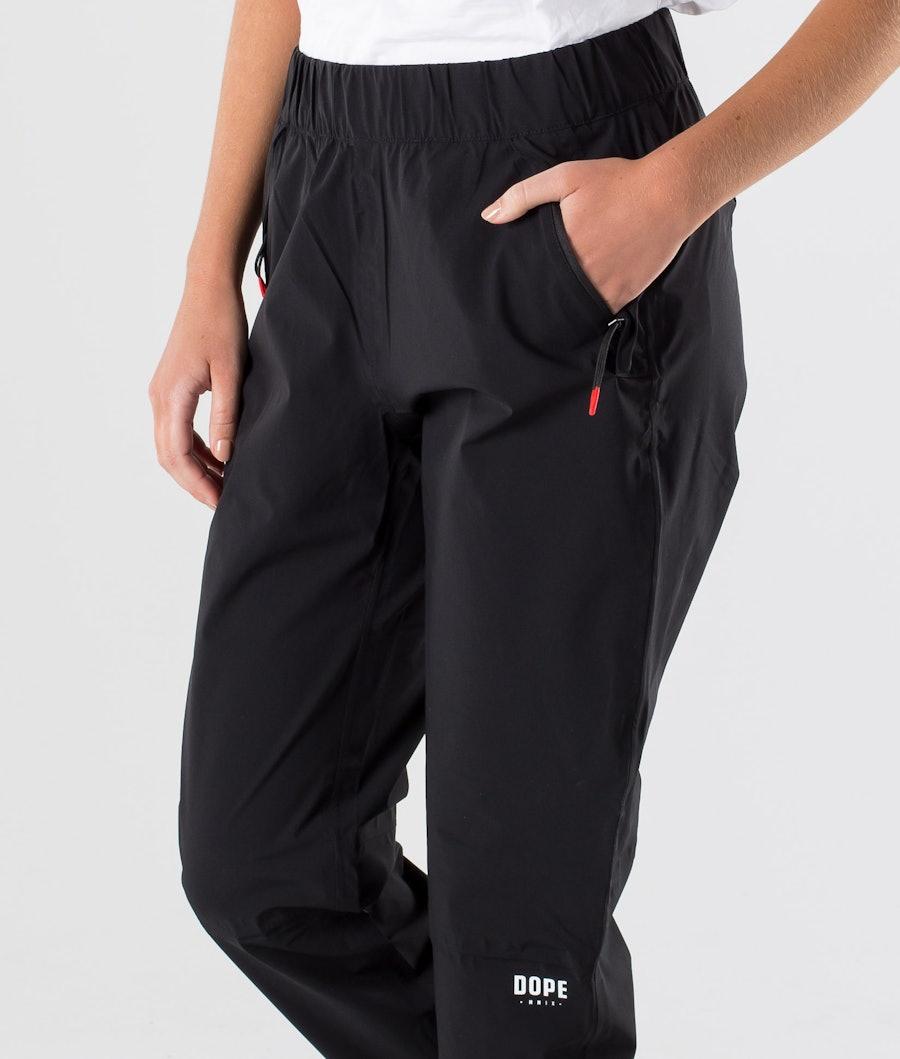 Dope Drizzard pants W Regnbukse Dame Black
