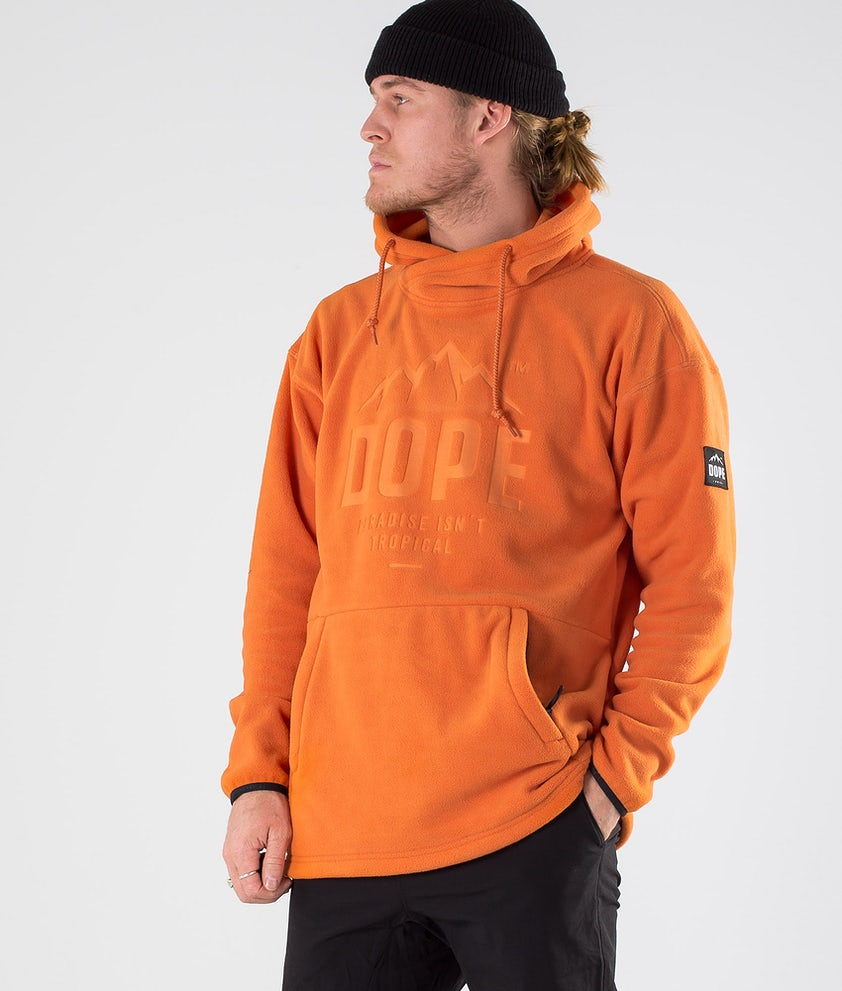 Dope Cozy M Pull Polaire Orange