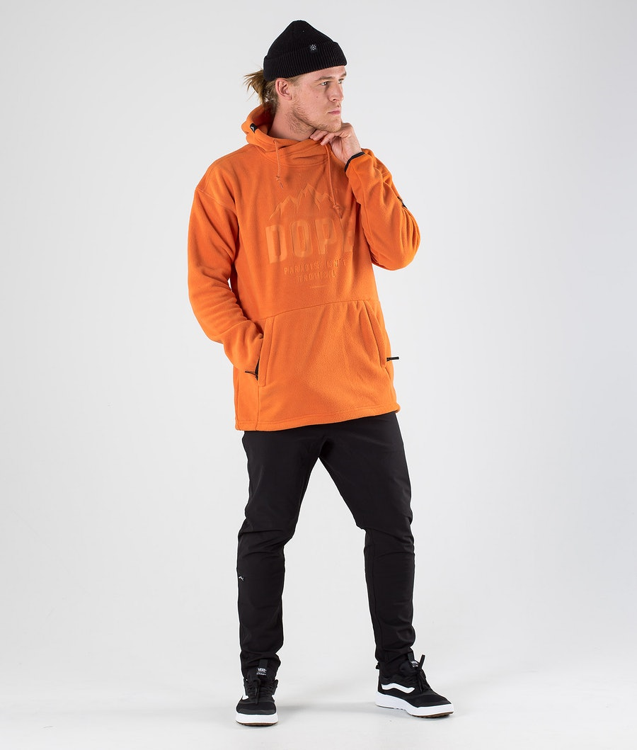 Dope Cozy M Fleecegenser Orange