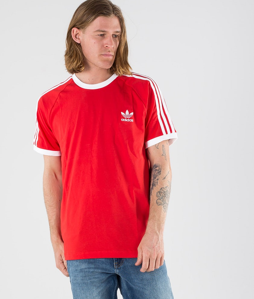 Adidas Originals 3-Stripes Tee    T-shirt Lush Red