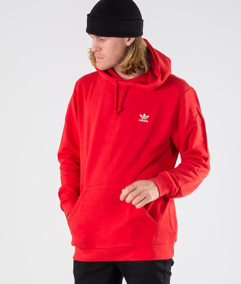Adidas Originals Essential Hoody   Hood Lush Red