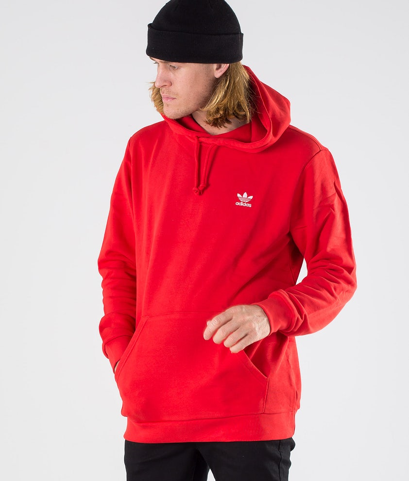Adidas Originals Essential Hoody   Hood Lush Red