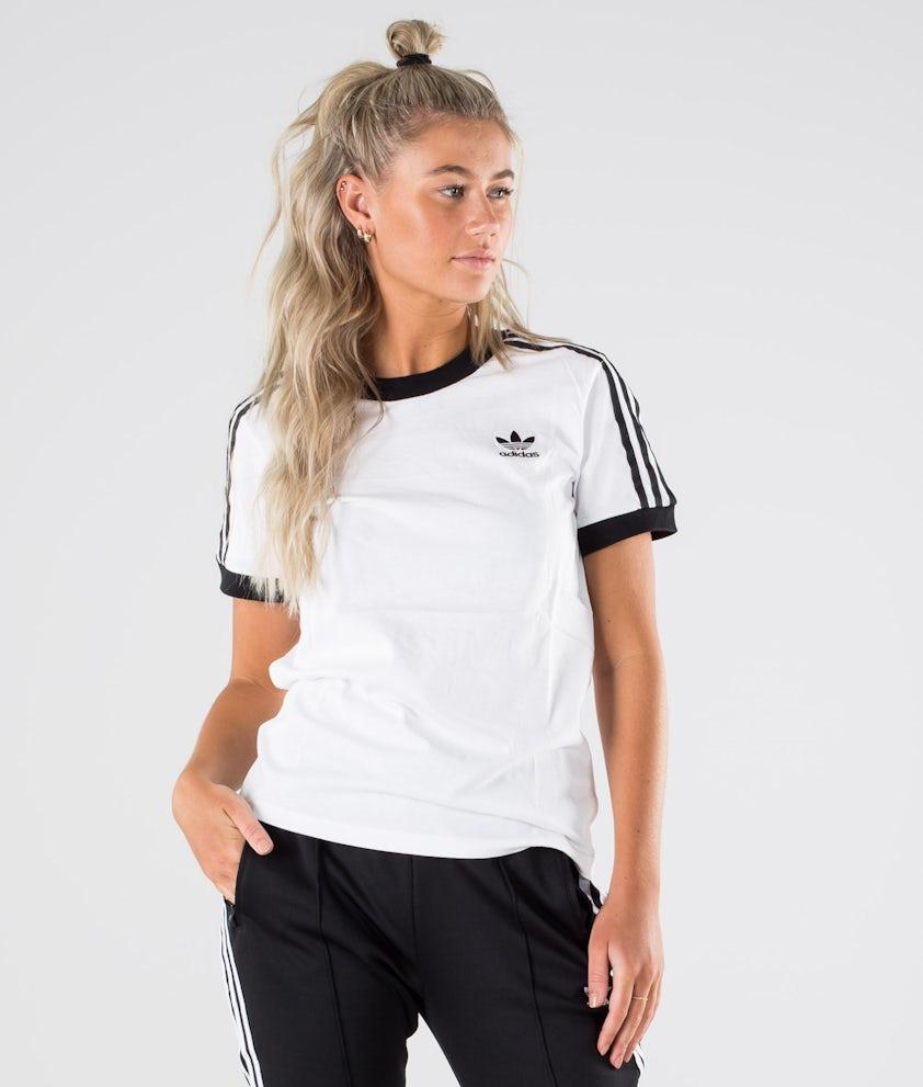 Adidas Originals 3 Stripe Tee     T-shirt White/Black