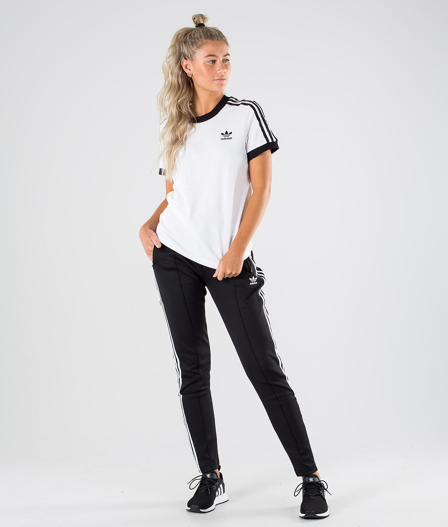 Adidas Originals 3 Stripe Tee     T-shirt Dame White/Black