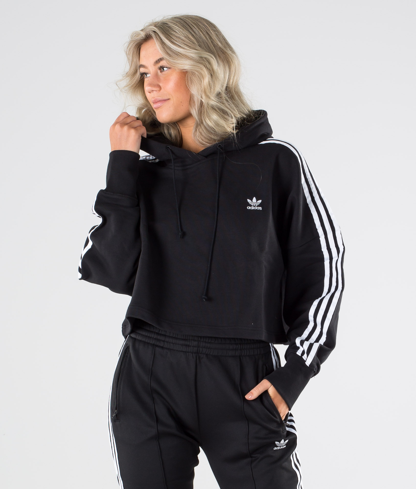 adidas Originals Cropped Hoody Black