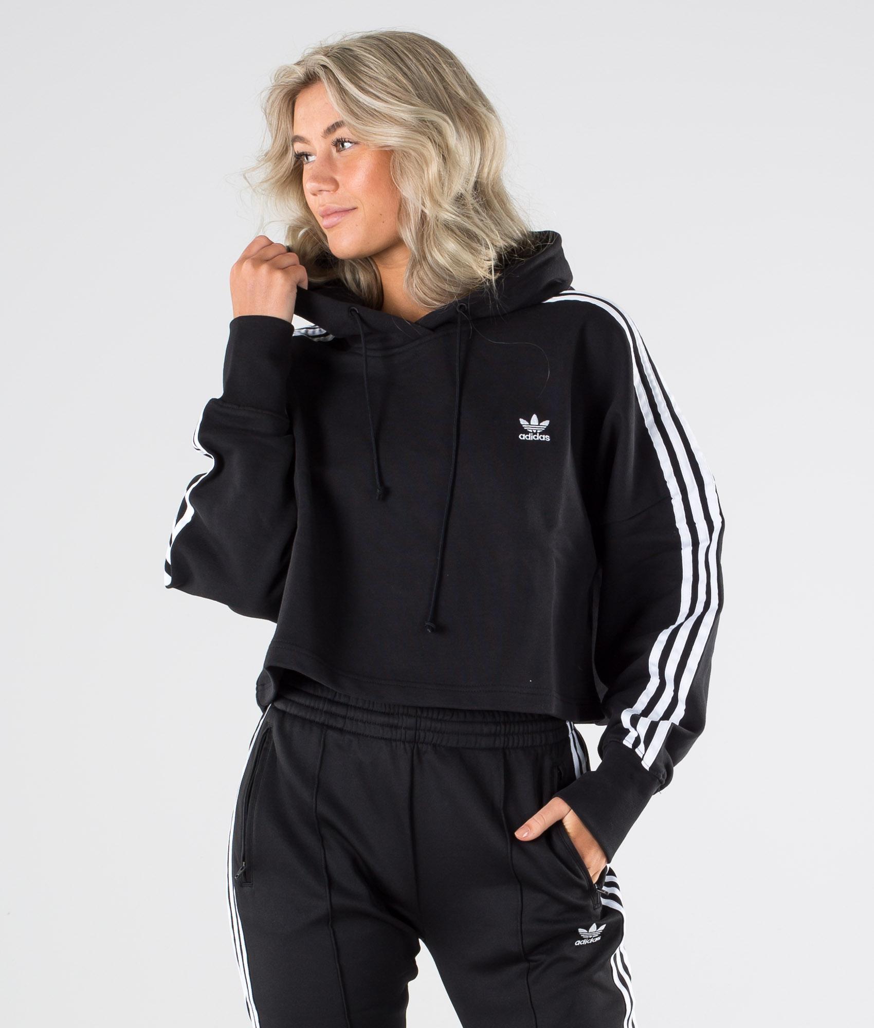 Adidas Originals Cropped Hood Felpa con cappuccio Black