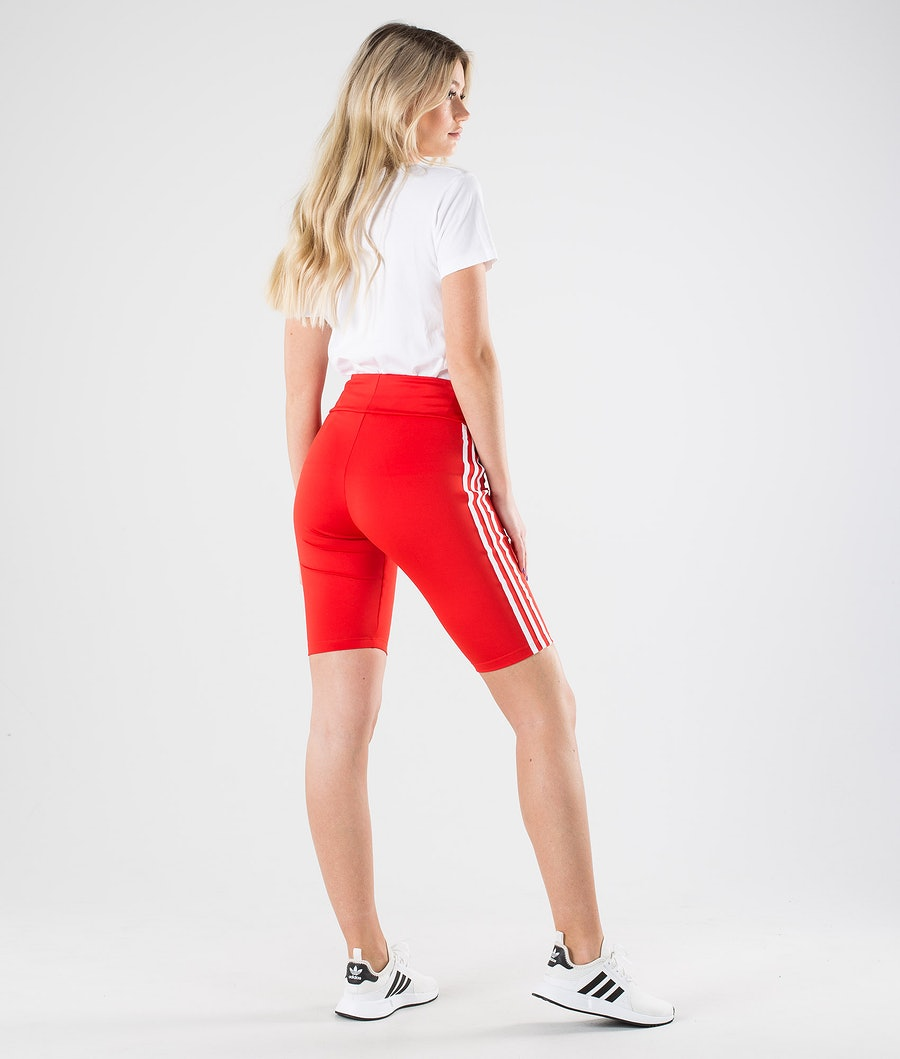 Adidas Originals Short Tights     Shorts Dam Lush Red/White