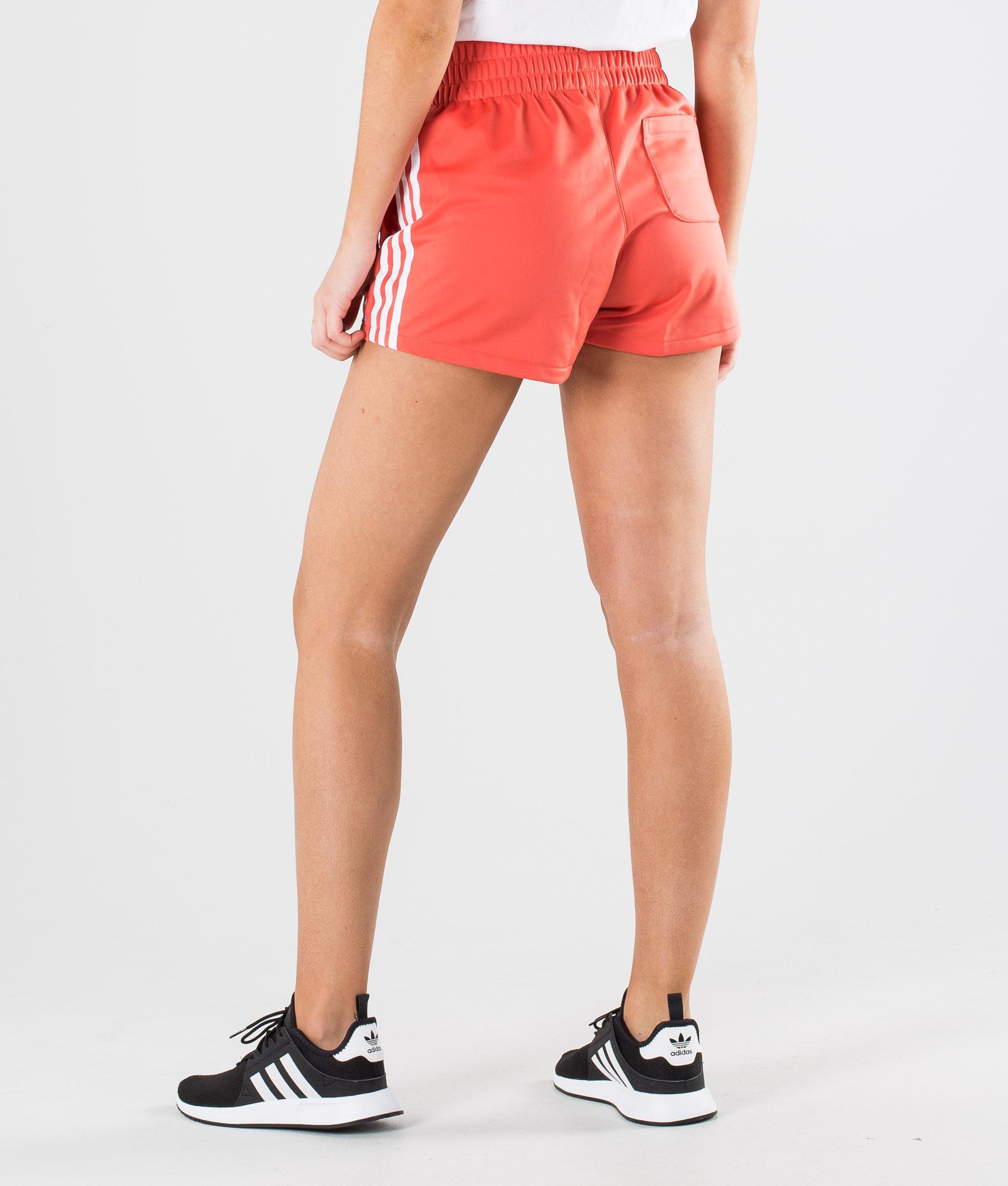Adidas Originals 3 Stripe Short Shorts Trace Scarlet /White