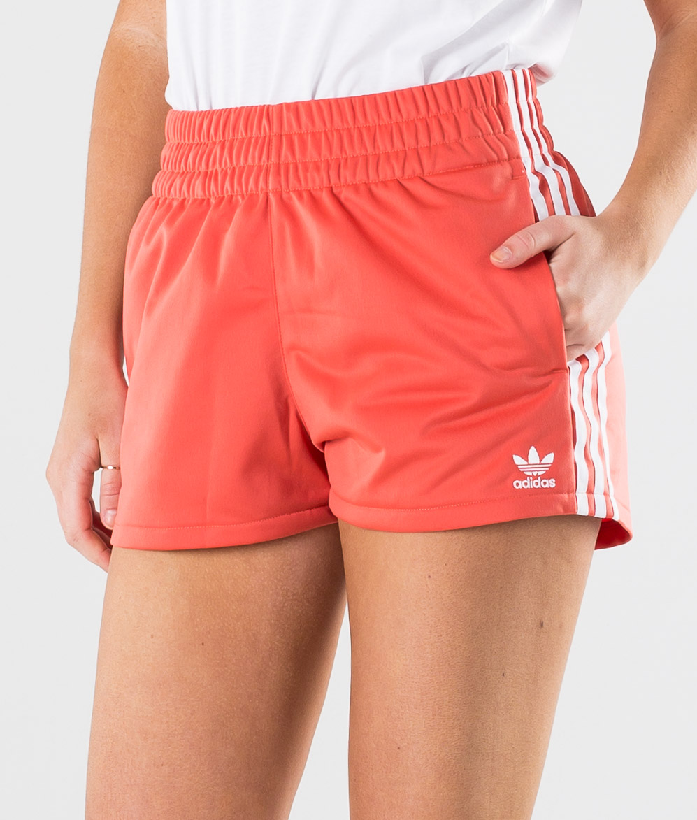 Adidas Originals 3 Stripe Short Shorts Trace Scarlet /White