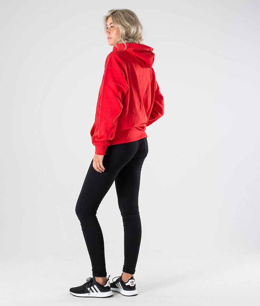 Adidas Originals Trefoil Hoodie      Hood Dam Lush Red/White