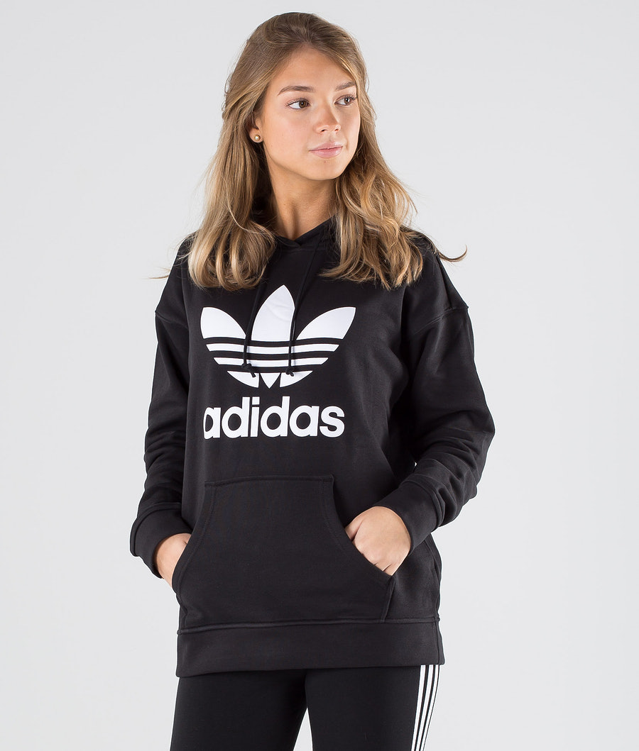 Adidas Originals Trefoil Hoodie           Hood Black/White