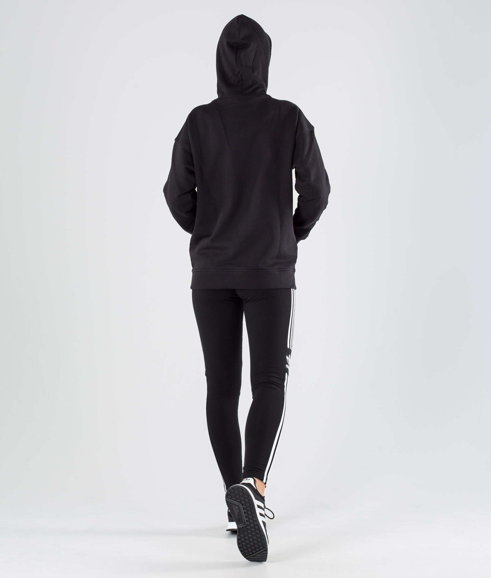 Adidas Originals Trefoil Hoodie Hood BlackWhite